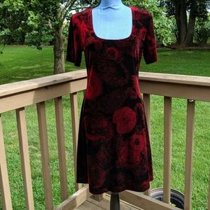 Vintage floral Velvet dress size 10/large